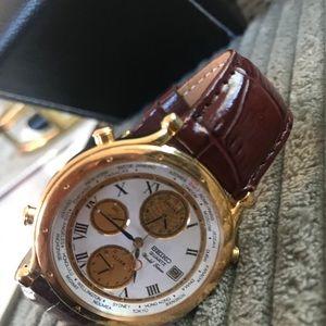 Men's Vintage Seiko World Timer Quartz Watch